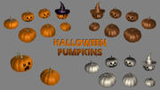 Halloween Pumpkin collection 3d model