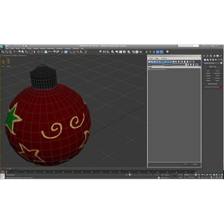 Christmas Ornament Ball 2 royalty-free 3d model - Preview no. 19