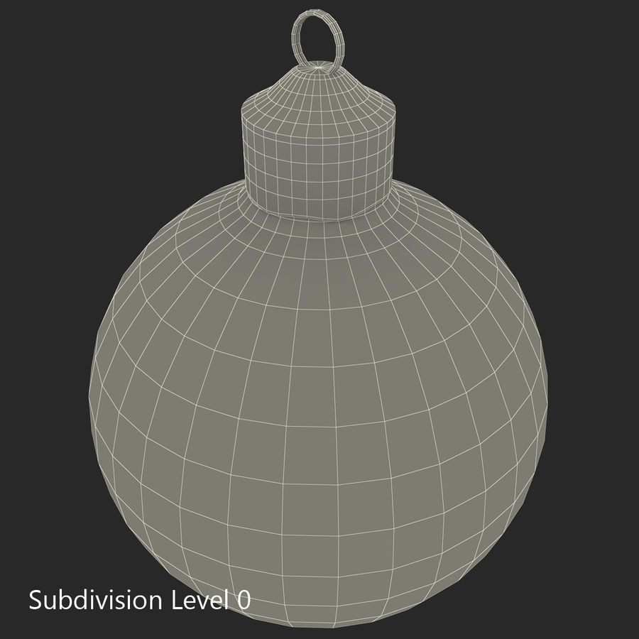 Christmas Ornament Ball 2 royalty-free 3d model - Preview no. 18