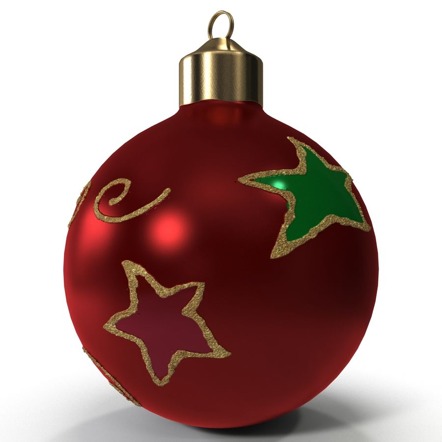Christmas Ornament Ball 2 royalty-free 3d model - Preview no. 6