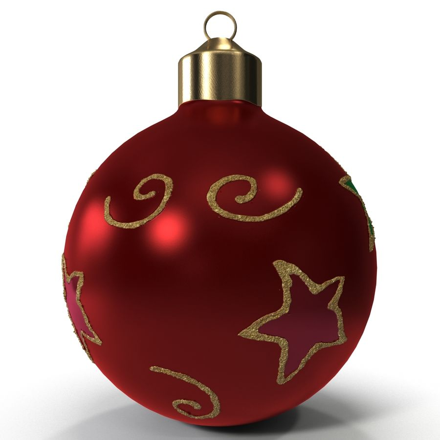 Christmas Ornament Ball 2 royalty-free 3d model - Preview no. 4