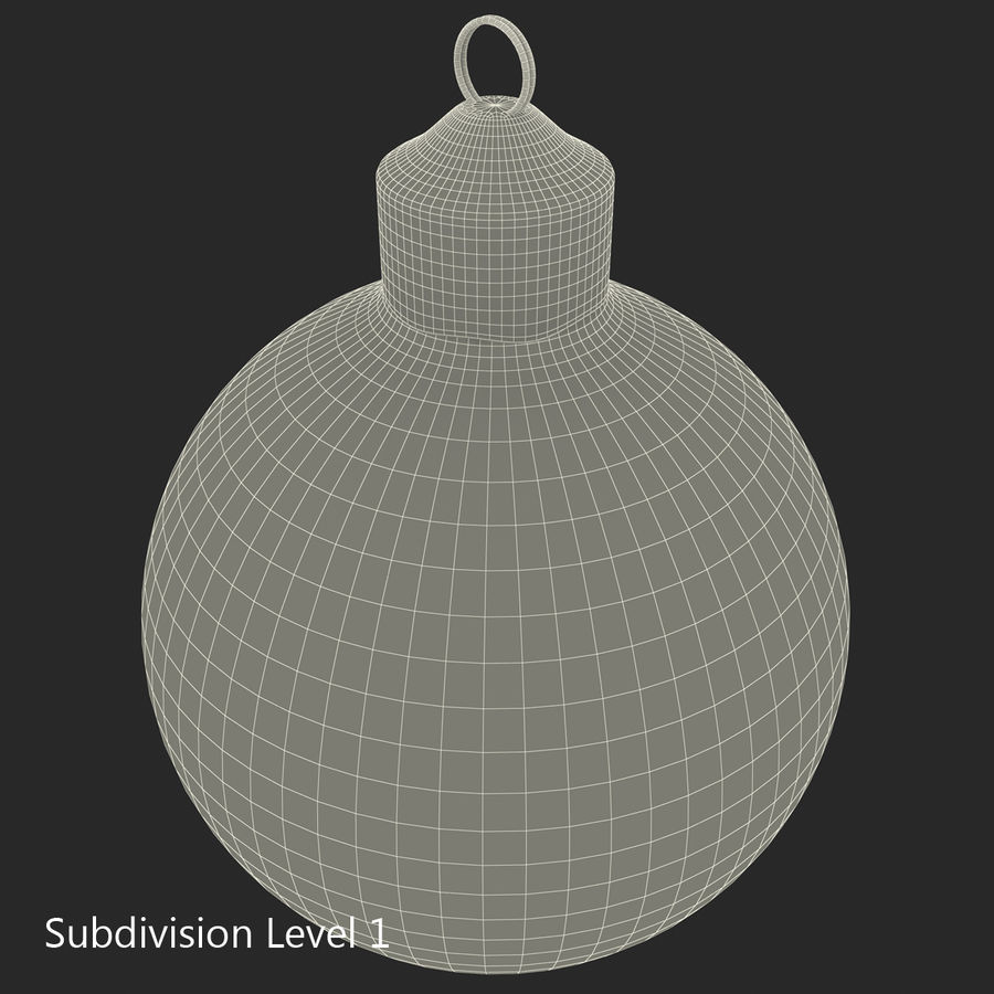 Christmas Ornament Ball 2 royalty-free 3d model - Preview no. 17