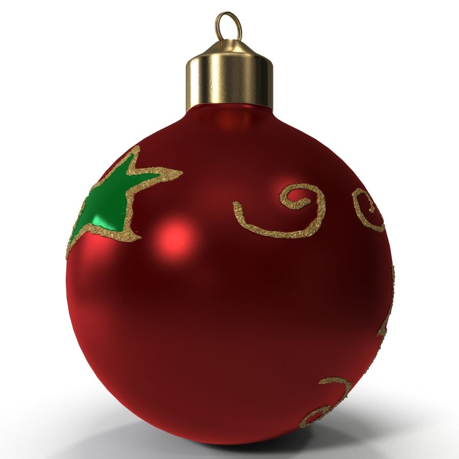Christmas Ornament Ball 2 royalty-free 3d model - Preview no. 7