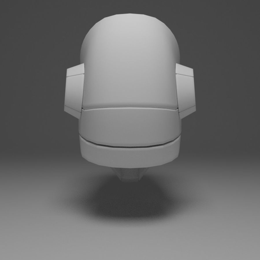 Sci-fi Helmet royalty-free 3d model - Preview no. 4