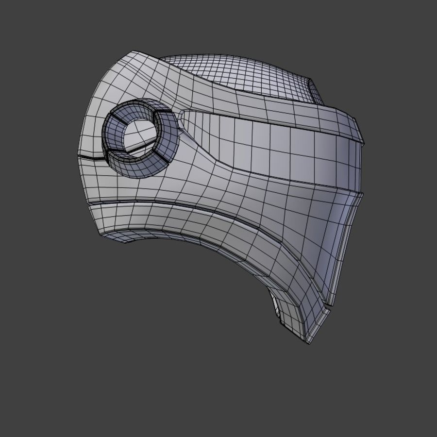 Sci-fi Helmet royalty-free 3d model - Preview no. 7