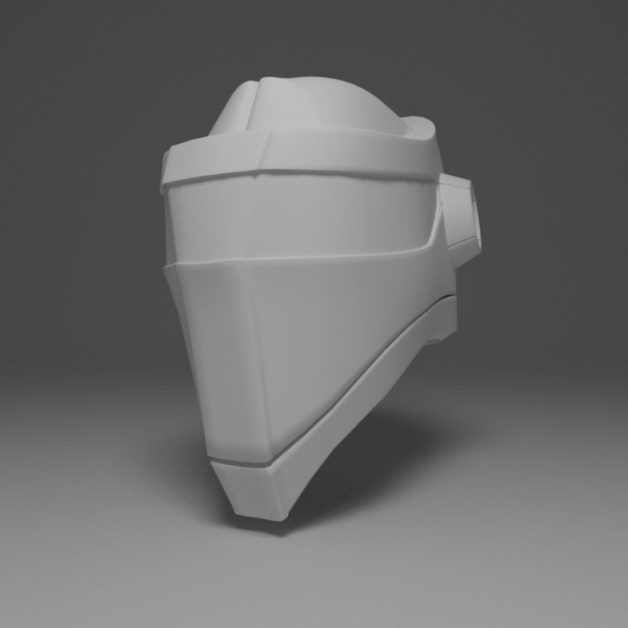 Sci-fi Helmet royalty-free 3d model - Preview no. 1