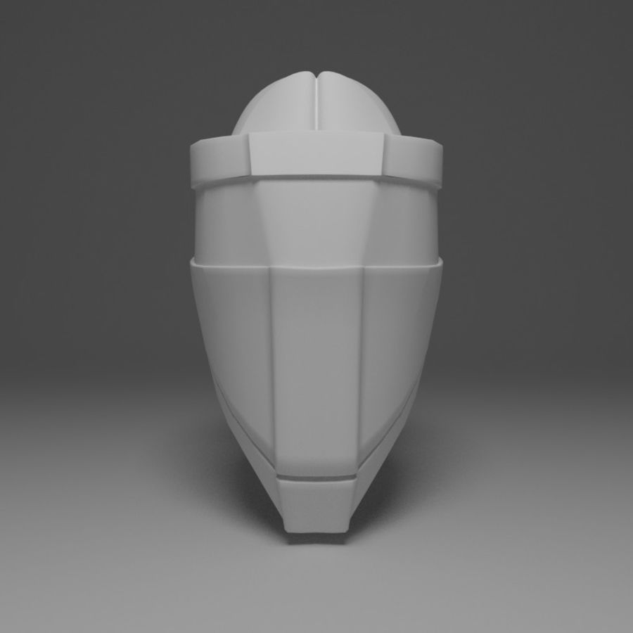 Sci-fi Helmet royalty-free 3d model - Preview no. 2