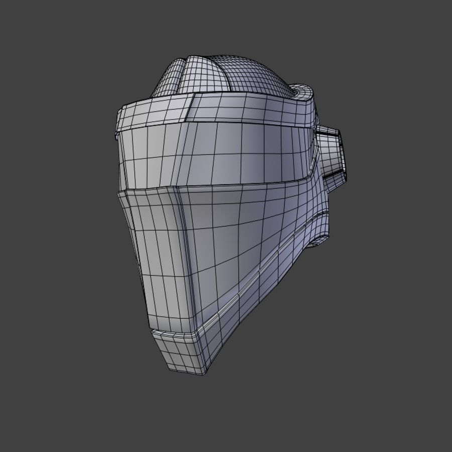 Sci-fi Helmet royalty-free 3d model - Preview no. 5