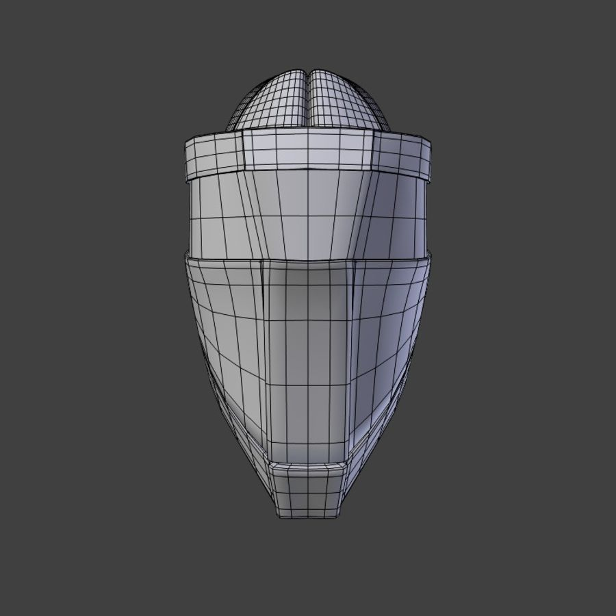 Sci-fi Helmet royalty-free 3d model - Preview no. 6