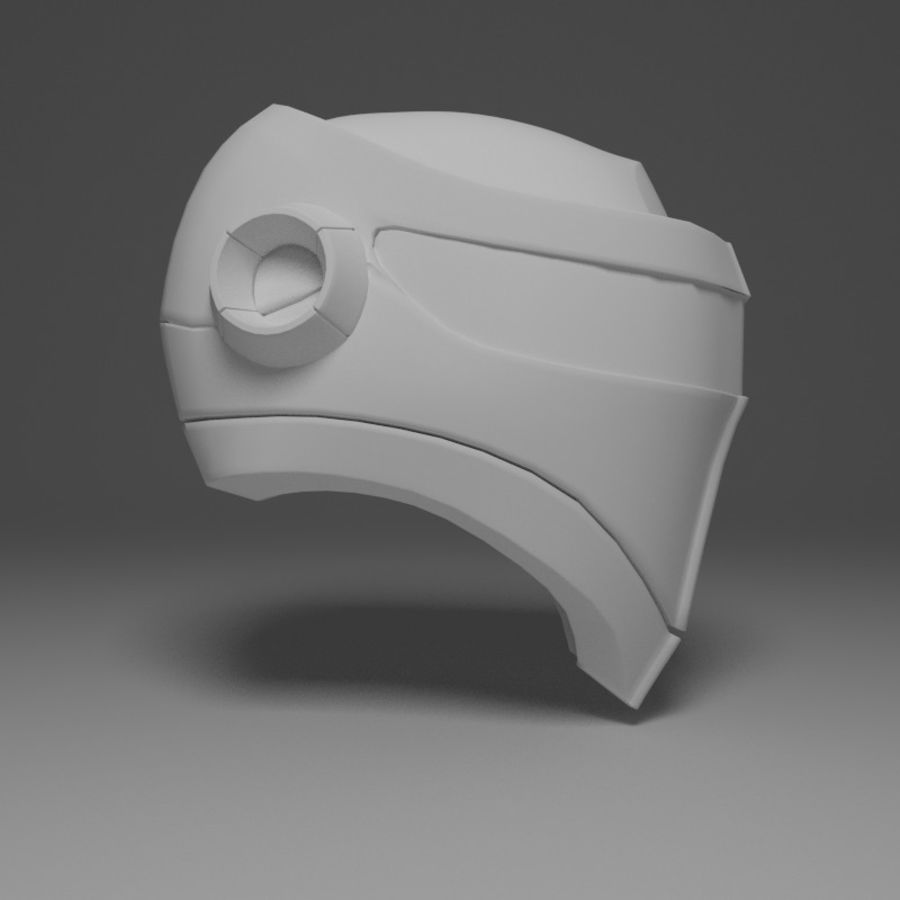 Sci-fi Helmet royalty-free 3d model - Preview no. 3