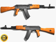 Fusil d'assaut Ak-47 3d model