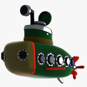 Cartoon Submarine 3d model