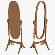 Wooden Cheval Floor Mirror 3d model