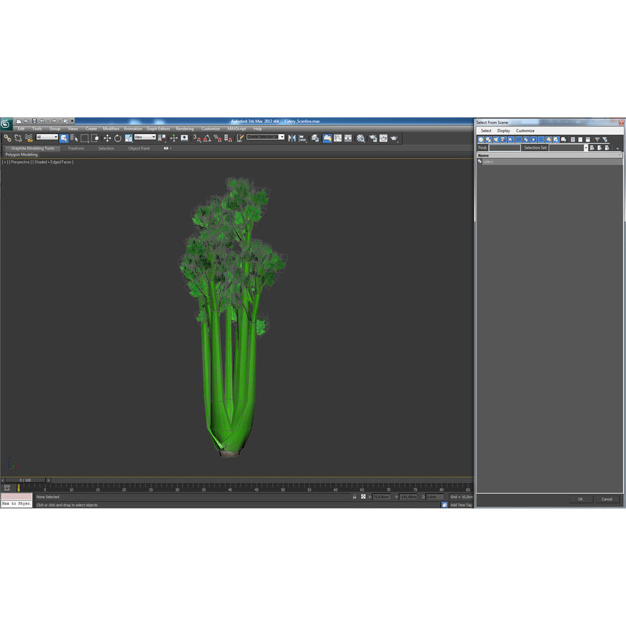 Celery royalty-free 3d model - Preview no. 34