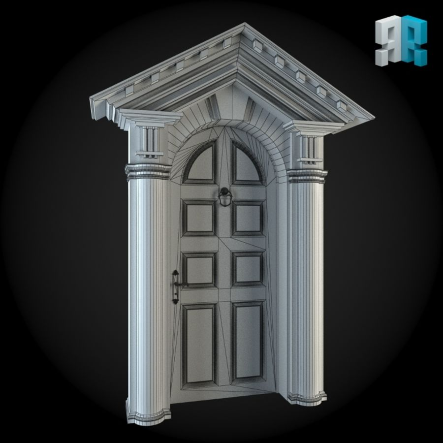 Door 023 royalty-free 3d model - Preview no. 4