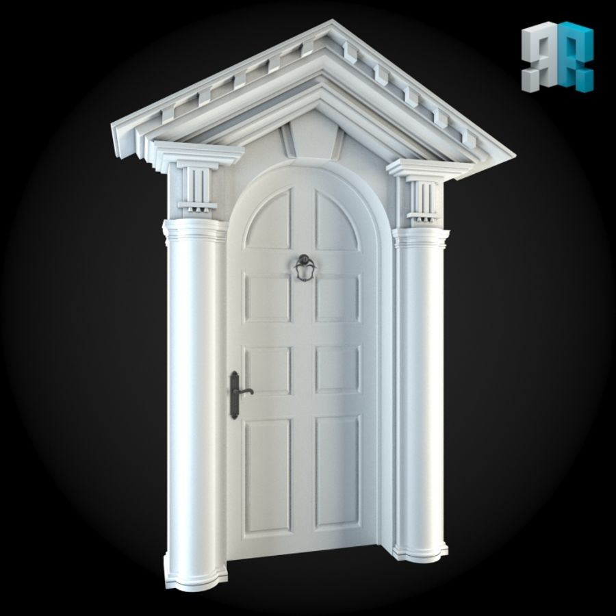 Door 023 royalty-free 3d model - Preview no. 3