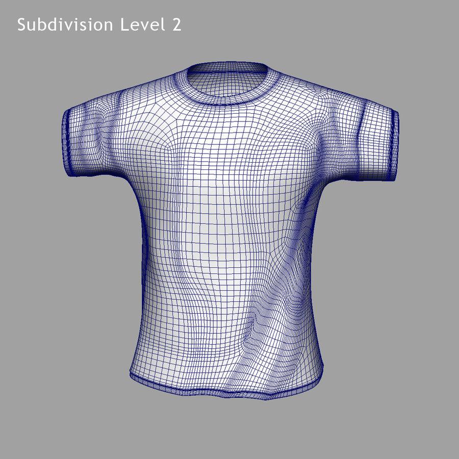 Camiseta Nike royalty-free modelo 3d - Preview no. 10
