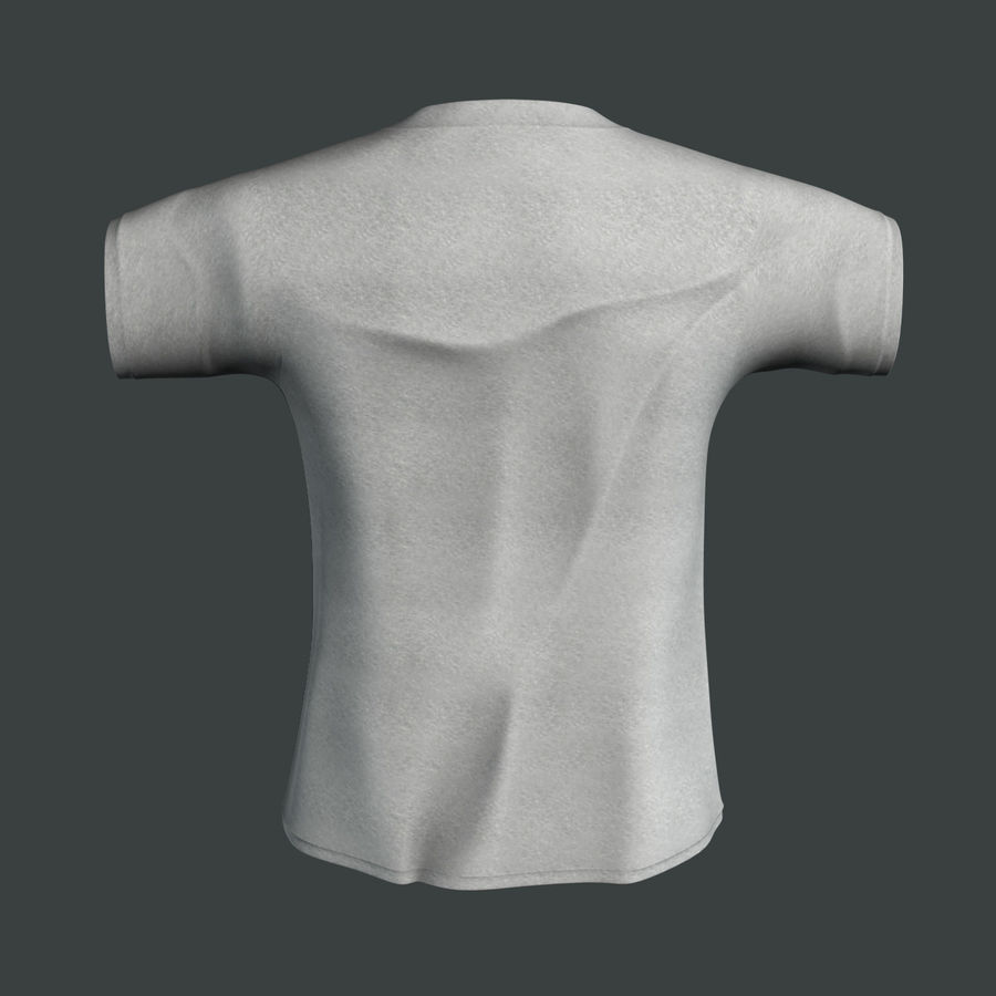 Camiseta Nike royalty-free modelo 3d - Preview no. 3