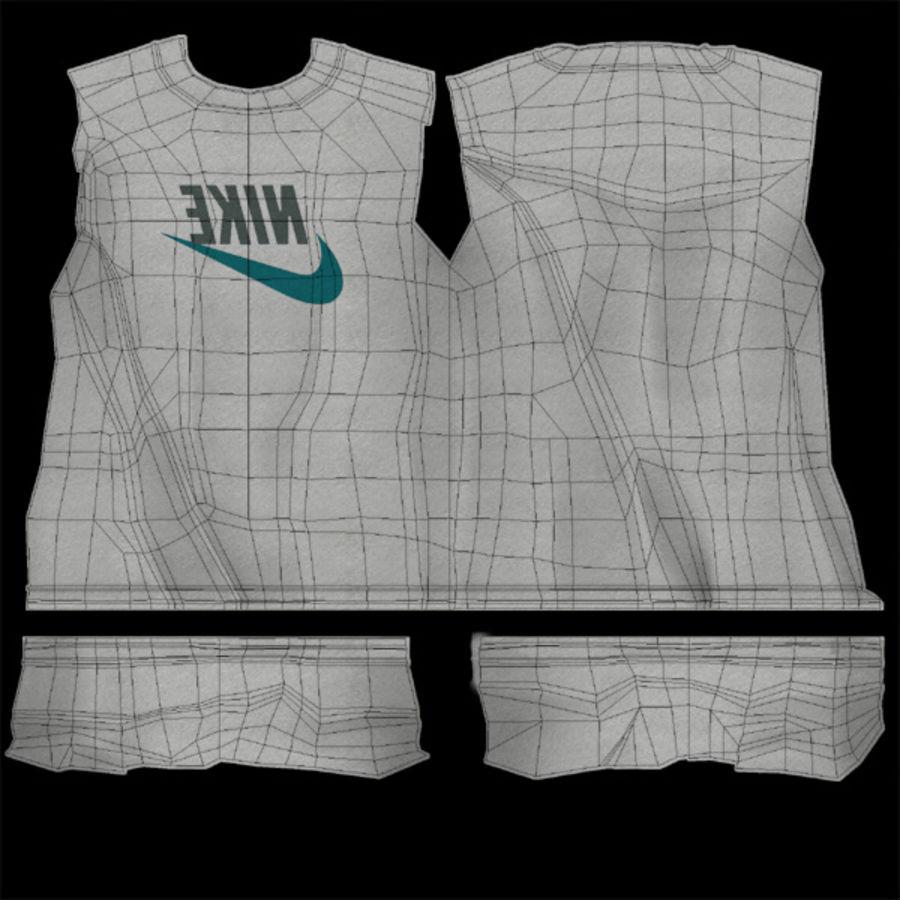 Camiseta Nike royalty-free modelo 3d - Preview no. 11