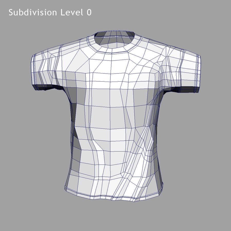 Camiseta Nike royalty-free modelo 3d - Preview no. 9