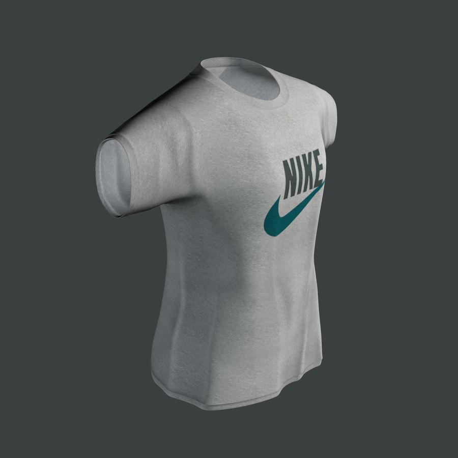 Camiseta Nike royalty-free modelo 3d - Preview no. 5