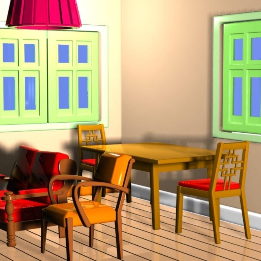 Cartoon Living Room: Cartoon Living Room Interior 3D Model $15