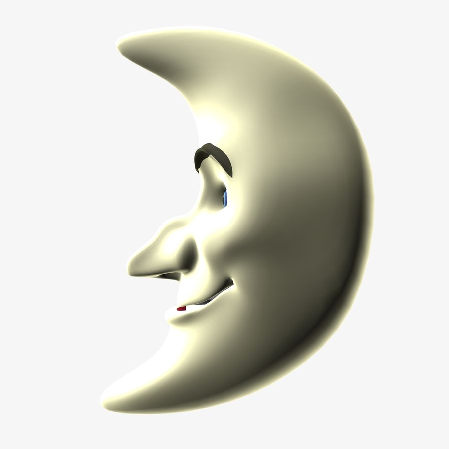 Moon Character royalty-free 3d model - Preview no. 1