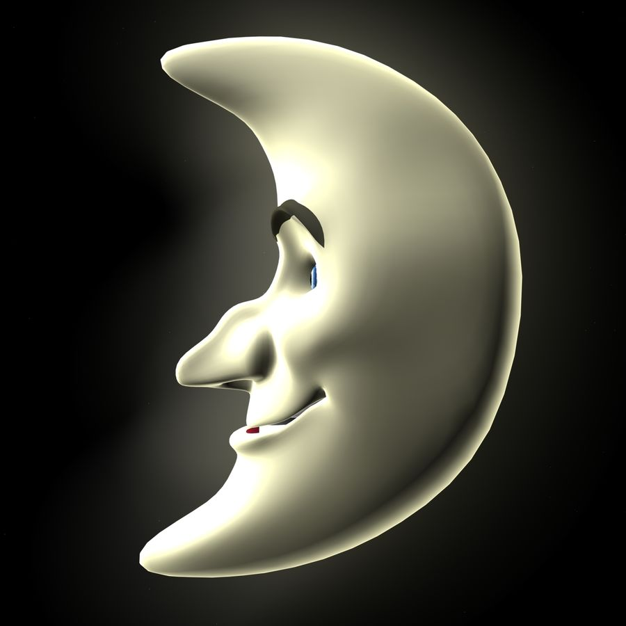 Moon Character royalty-free 3d model - Preview no. 2