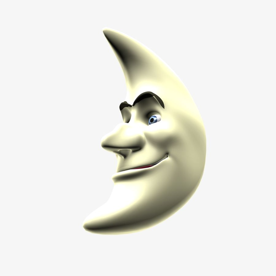 Moon Character royalty-free 3d model - Preview no. 10