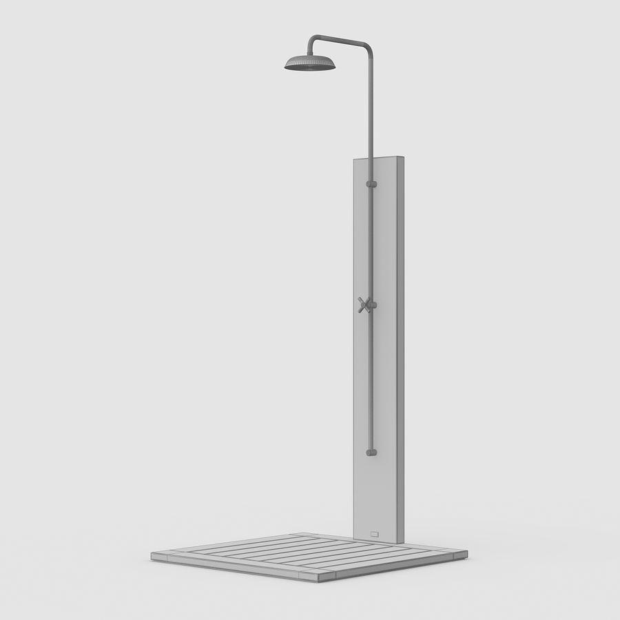 Pool Shower Oak royalty-free 3d model - Preview no. 13