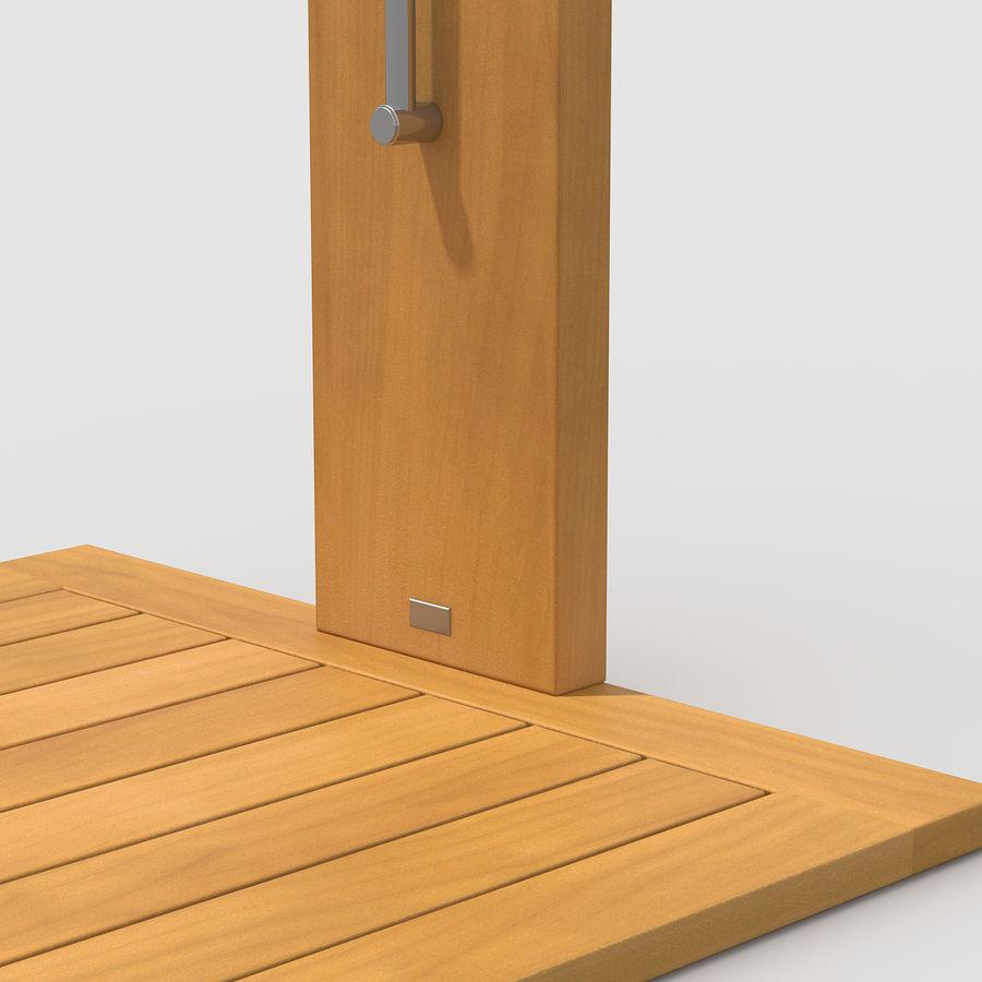 Pool Shower Oak royalty-free 3d model - Preview no. 8