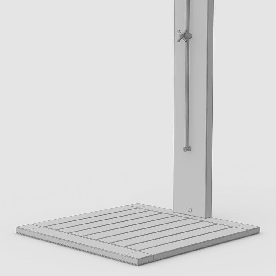 Pool Shower Oak royalty-free 3d model - Preview no. 12