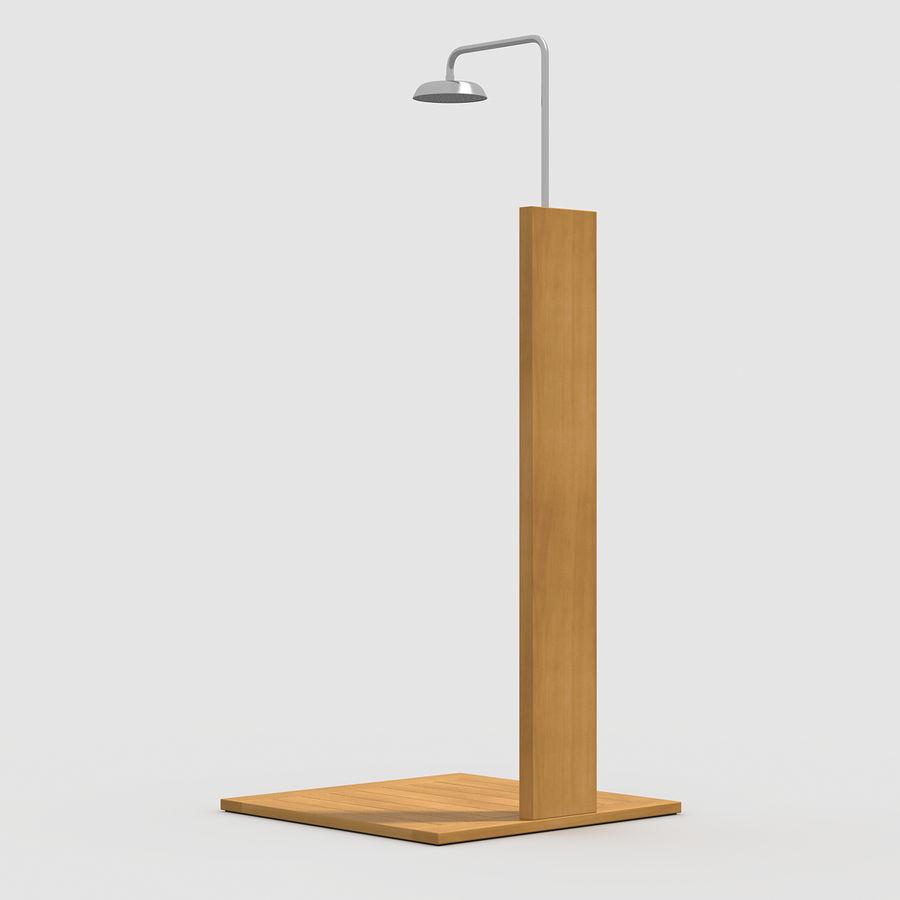 Pool Shower Oak royalty-free 3d model - Preview no. 4