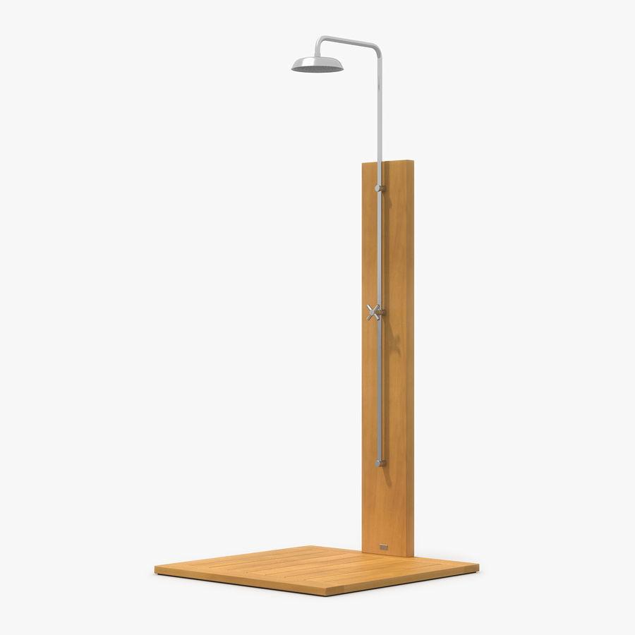 Pool Shower Oak royalty-free 3d model - Preview no. 1