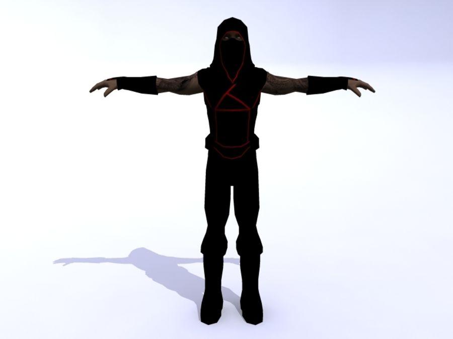 Ninja royalty-free 3d model - Preview no. 7