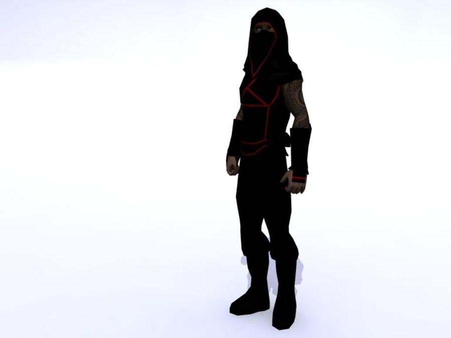 Ninja royalty-free 3d model - Preview no. 1