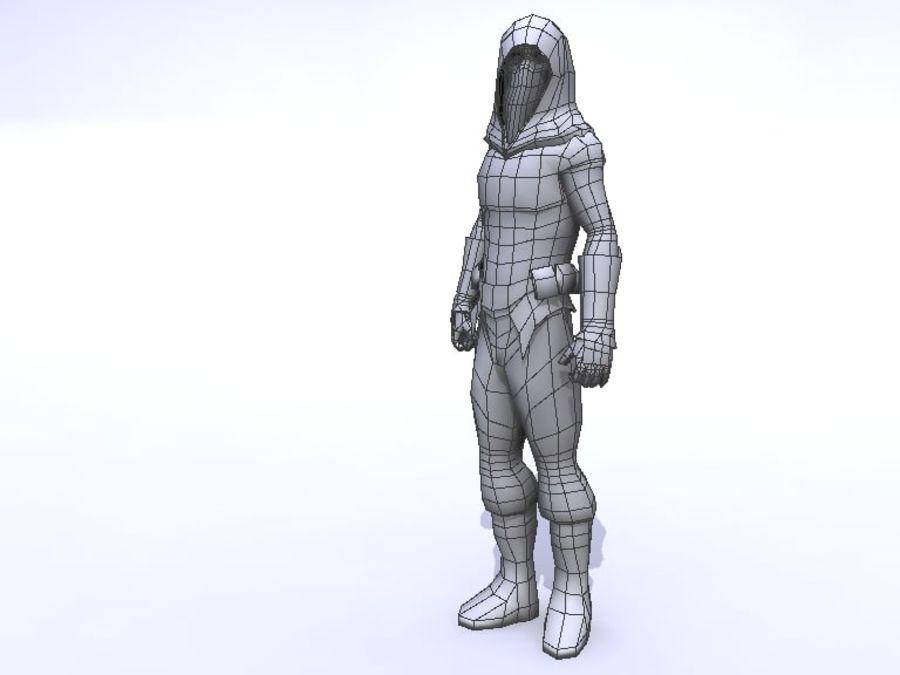Ninja royalty-free 3d model - Preview no. 2