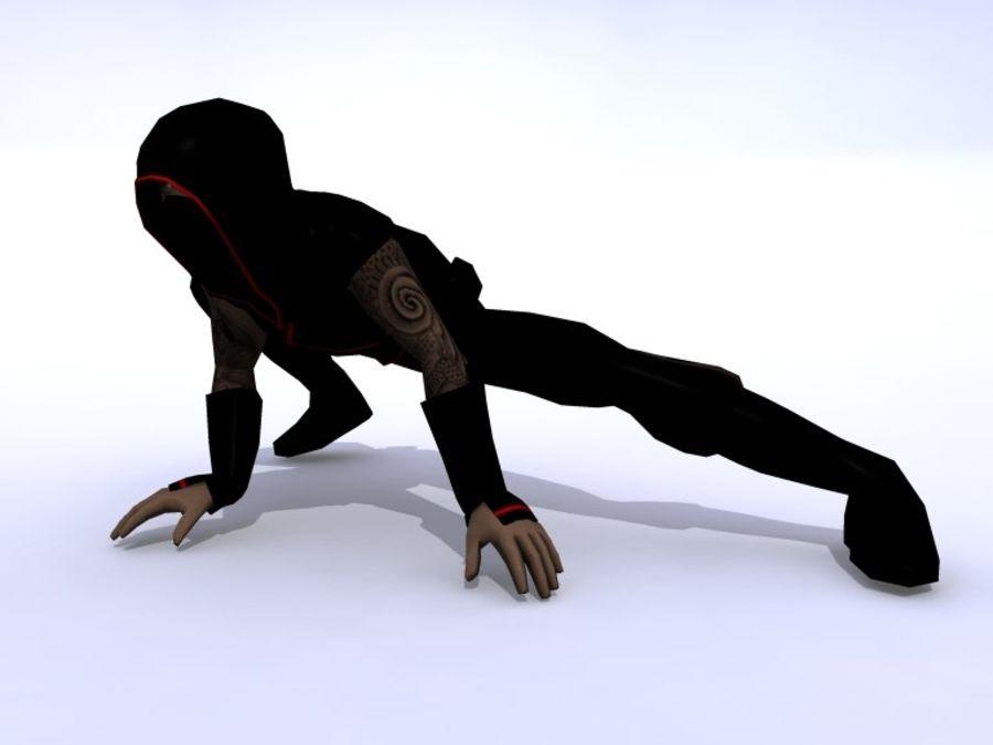 Ninja royalty-free 3d model - Preview no. 3