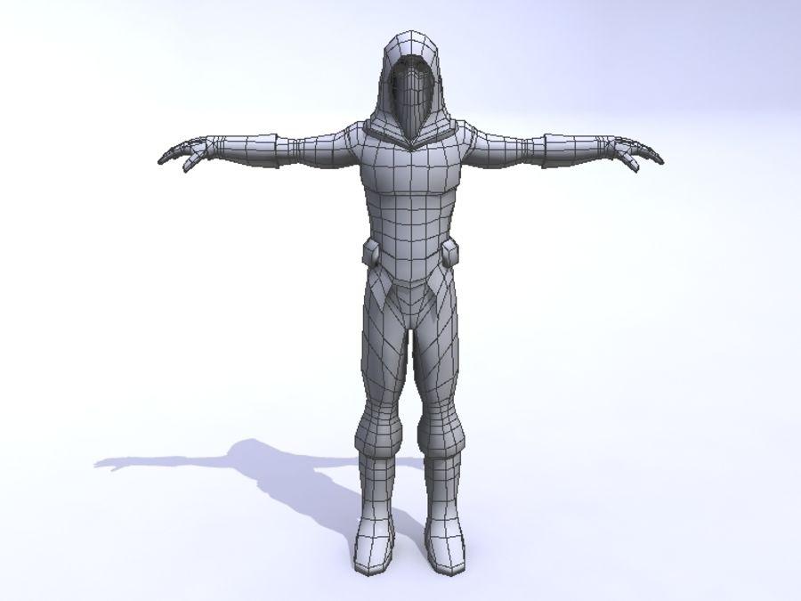 Ninja royalty-free 3d model - Preview no. 8