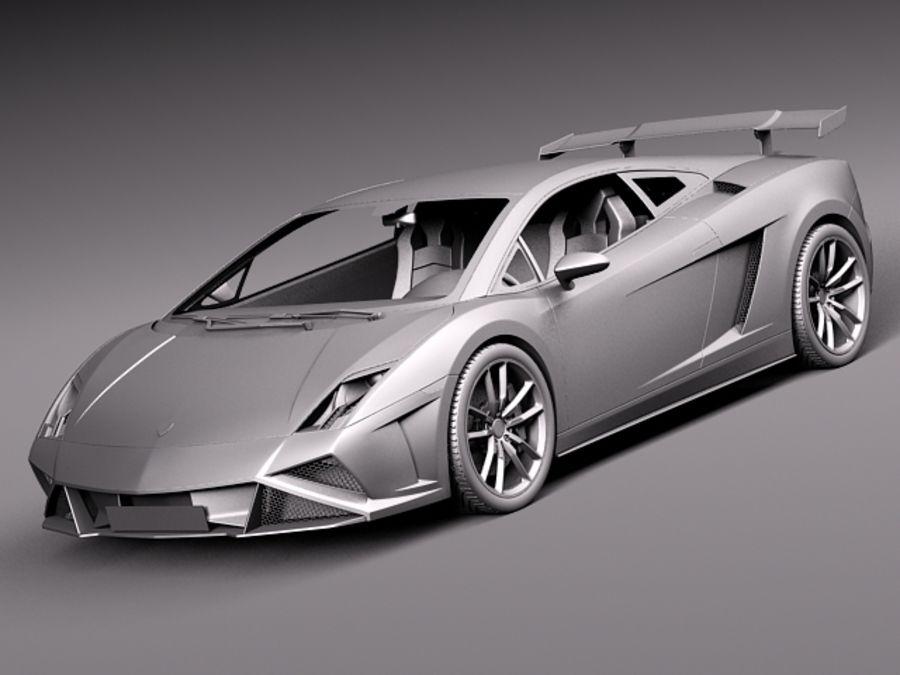 Lamborghini Gallardo Squadra Corse 2014 royalty-free 3d model - Preview no. 10
