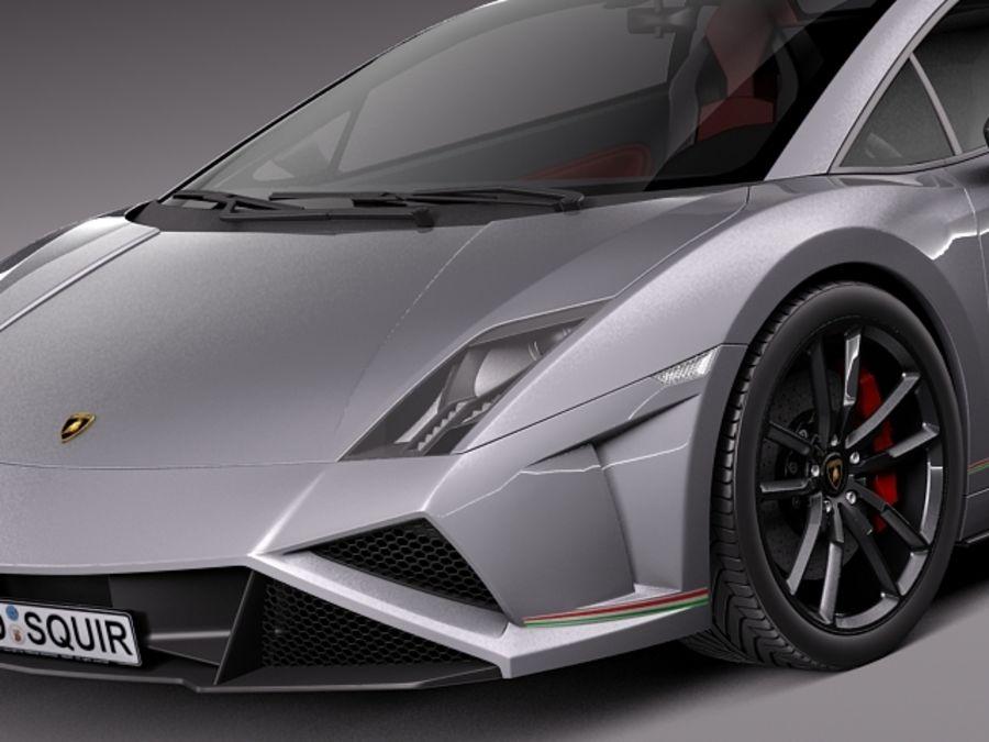 Lamborghini Gallardo Squadra Corse 2014 royalty-free 3d model - Preview no. 3