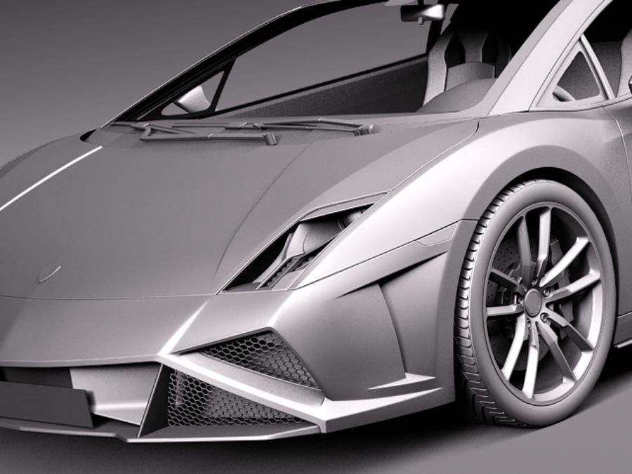 Lamborghini Gallardo Squadra Corse 2014 royalty-free 3d model - Preview no. 11
