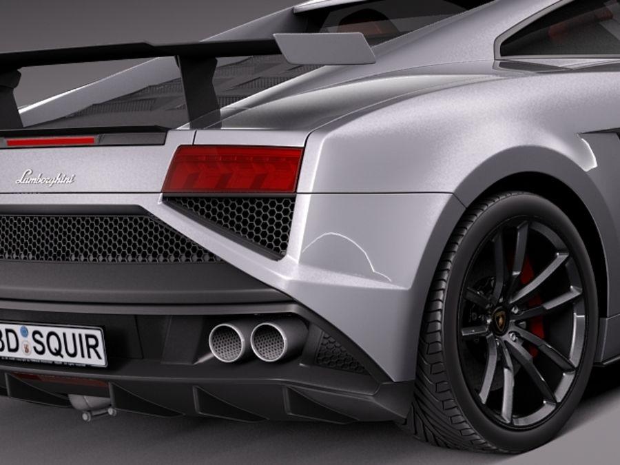 Lamborghini Gallardo Squadra Corse 2014 royalty-free 3d model - Preview no. 4