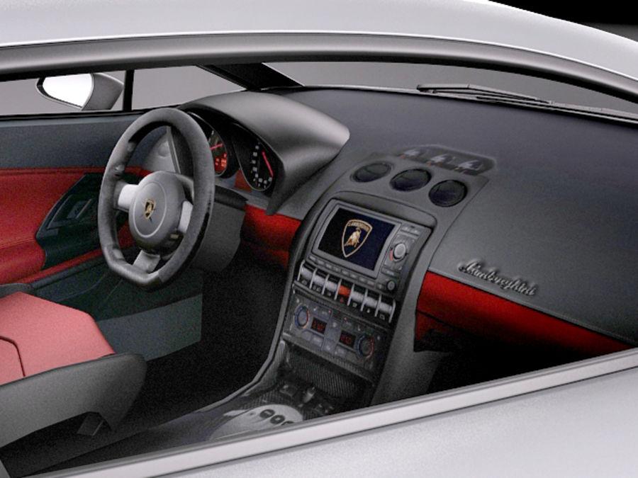 Lamborghini Gallardo Squadra Corse 2014 royalty-free 3d model - Preview no. 9