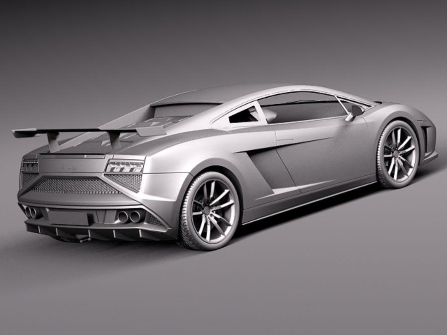 Lamborghini Gallardo Squadra Corse 2014 royalty-free 3d model - Preview no. 13