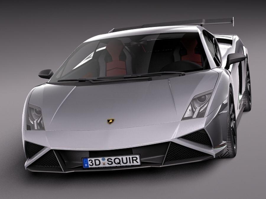Lamborghini Gallardo Squadra Corse 2014 royalty-free 3d model - Preview no. 2
