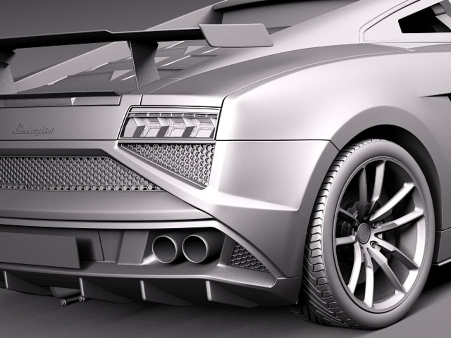 Lamborghini Gallardo Squadra Corse 2014 royalty-free 3d model - Preview no. 12