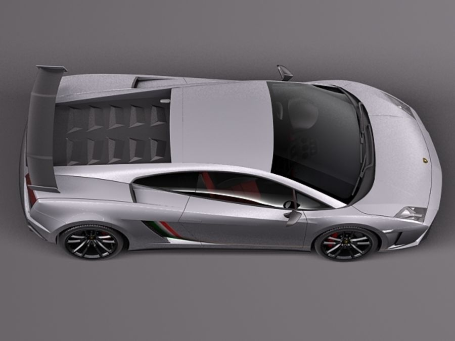 Lamborghini Gallardo Squadra Corse 2014 royalty-free 3d model - Preview no. 8