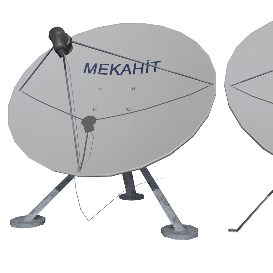 Satellietschotel Mc-01 royalty-free 3d model - Preview no. 4