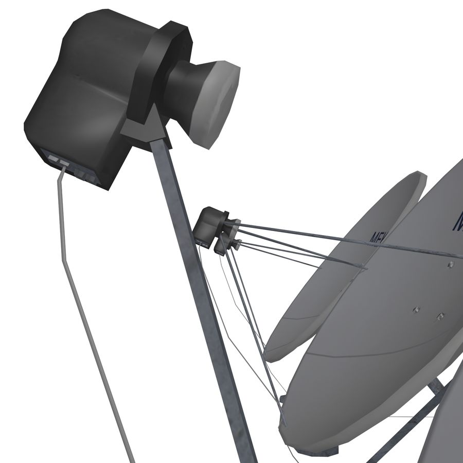 Satellietschotel Mc-01 royalty-free 3d model - Preview no. 7